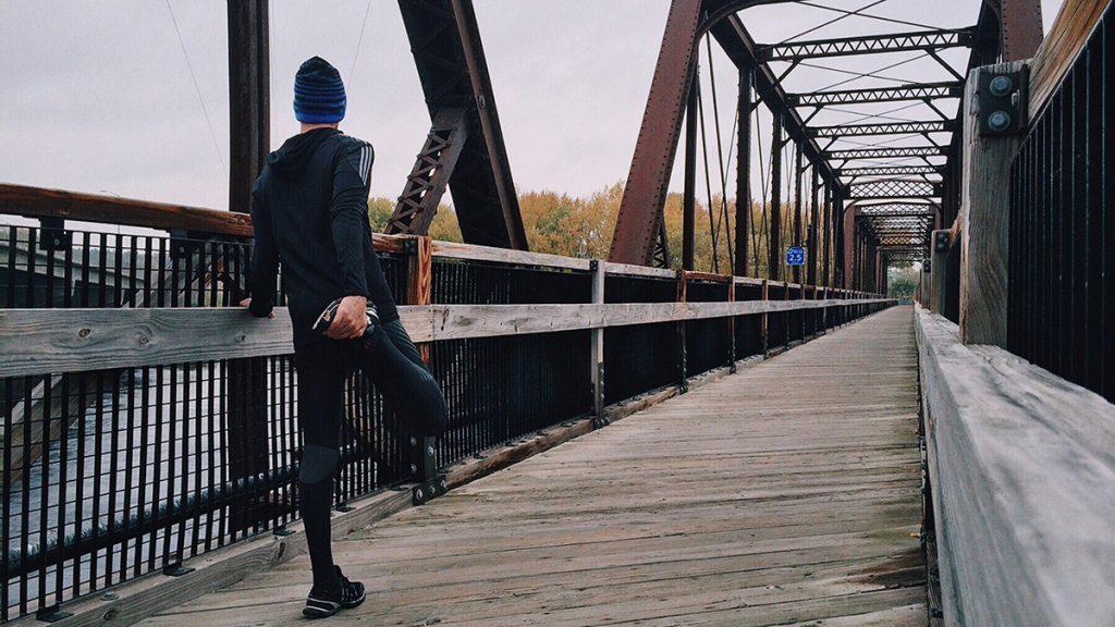 stretching allenamento corsa sport inverno