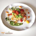 Orecchiette con pomodorini appassiti, gamberi e zucchine