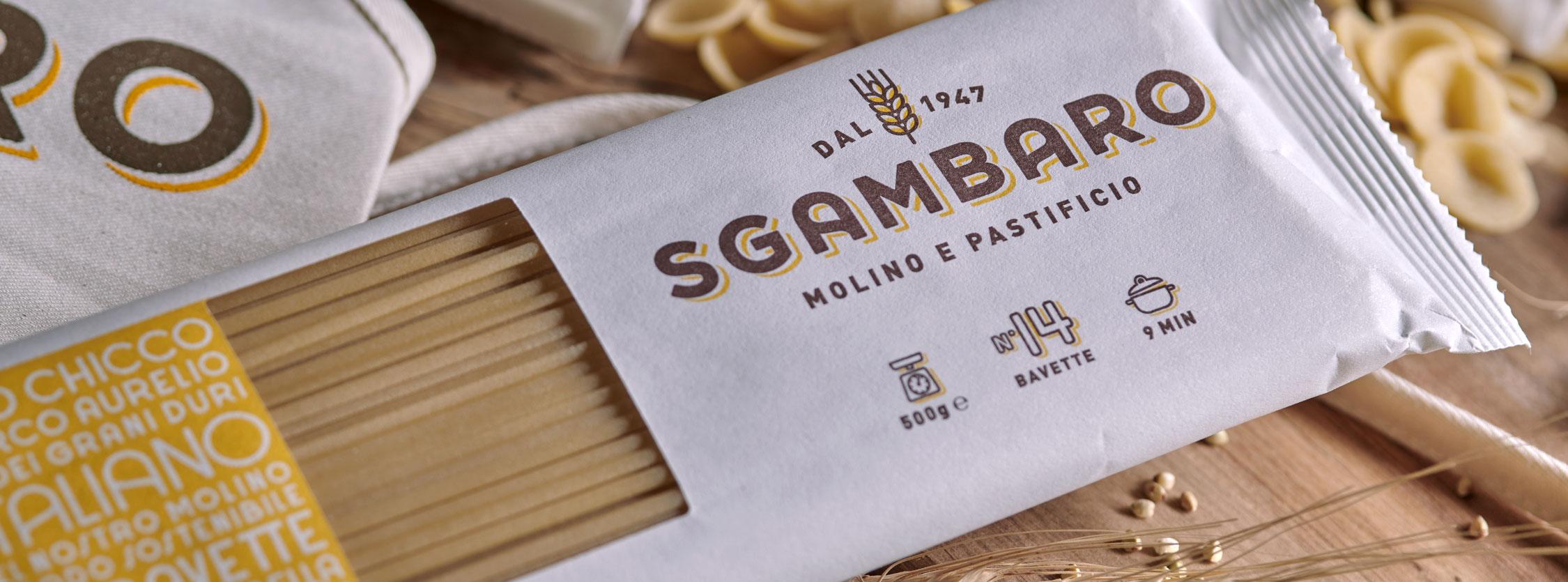 confezione di spaghetti Sgambaro