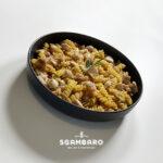 Trivelline di farro, lenticchie e quinoa al ragù di coniglio